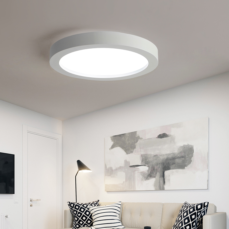 Modern Led Dimmable Ceiling Lighting Black And White Dia35 65cm Kitchen Living Room Bed Room