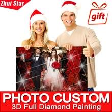 5D DIY Diamond Painting Private Custom Full Drill Rhinestone Embroidery Cartoon Animal Character Wedding Photo Life