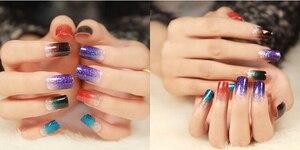 Image 2 - Набор блестящих акриловых порошков, 36 цветов, искусственный отмачиваемый УФ гель, красочный Гель лак для ногтей