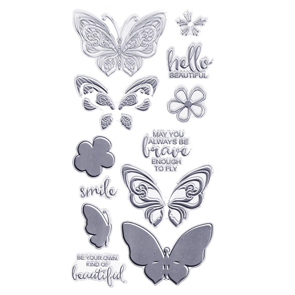 CCINEE 1PCS Clearn Transparent Stamp DIY Silicone Seals Scrapbooking/Card Making/Photo Album Decoration Supplies lovely animals and ballon design transparent clear silicone stamp for diy scrapbooking photo album clear stamp cl 278