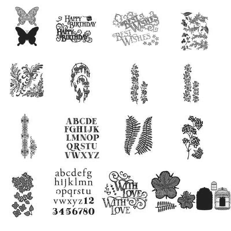 Gold Metal Birthday Word Cutting Dies Stencil  Scrapbooking Template Crafts/&