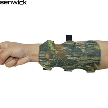2017 New Archery Bow Arm Guard Protection Forearm Safe 3-Strap Camo Leather New free shipping