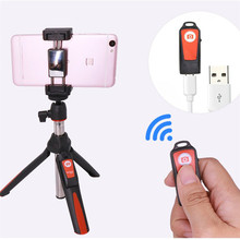 3 in 1 Handheld & mini Tripod Self-portrait Monopod Phone Selfie Sticker Bluetooth Remote Shutter for iPhone Sumsang Gopro