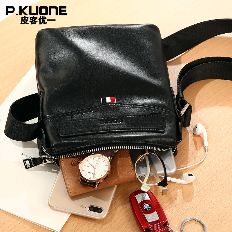 Aliexpress.com   Buy High Quality Men Messenger Bag Fashion Genuine Leather  Briefcase Bag Casual Crossbody Business Bag Black P611013 from Reliable  leather ... 4bd6c57be9f62