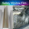 Película de PET de protección para cristal de la ventana de seguridad 2mil claro matices de ventana 1.52x10 m