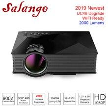 2019 Salange UC68 Projector UC46 Upgrade Video Projector Home Cinema 800×480 2000 Lumens WIFI Support Miracast Full HD Proyector