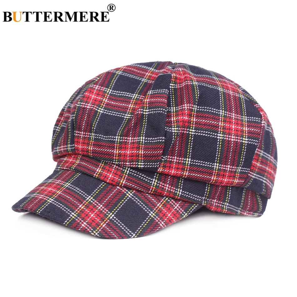 1e324a90f7a Buttermere plaid newsboy caps for women cotton red octagonal hat jpg  950x950 Plaid newsboy cap