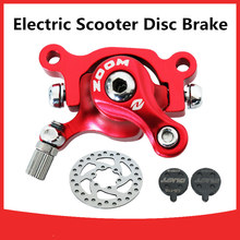ZOOM 10 inch electric scooter E-scooter Bicycle Disc Brake With 140/120mm brake pads metal pad Brake Rotor  Bike parts  стоимость