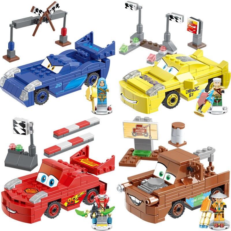 New Pixar Cars 3 Lightning Juniors Smokey's Garage 142pcs building blocks Educational Toys Compatible with Legoe Christmas gifts