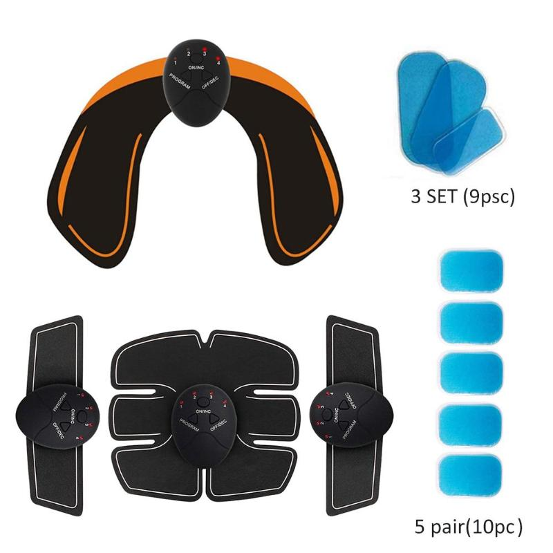 EMS Hips Trainer Electric Hip Stimulator Buttocks Lifting Trainer + Body Shape Muscle Training Gear Set Slimming Massager