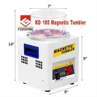 KD 185 Magnetic Tumbler Jewelry Polisher Finisher Finishing Machine, Magnetic Polishing Machine AC 110V/220V Available