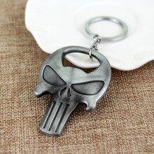 Punisher Skull Bottle Opener Alloy Keychain