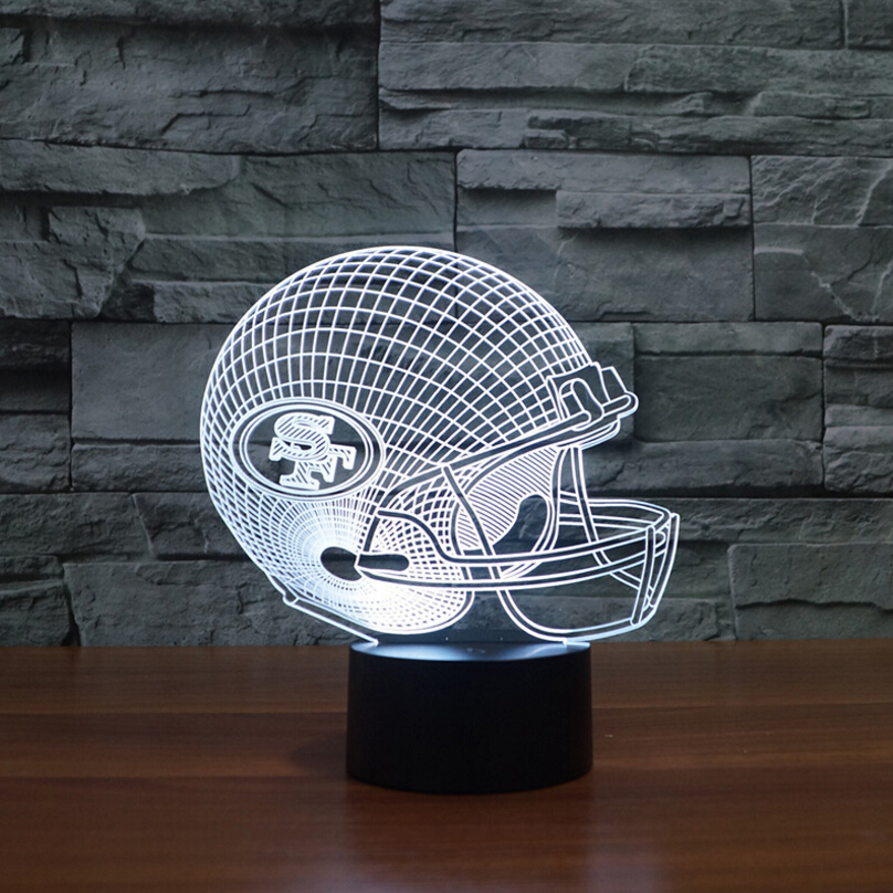 3D LED NFL San Francisco 49ers Helm Nachtlicht Touch 7 Farben ...