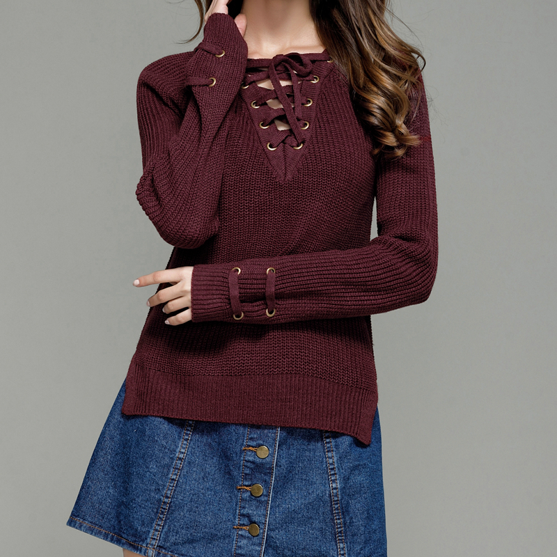 e486ef95308b White watermelon red burgundy brown dark green long sleeve lace up ...