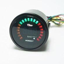 2 «52 мм 20 LED Blue Цифровой 0-10 Bar12V 20LED Turbo Boost Колесная Метр С Датчиком автоматический измерительный прибор