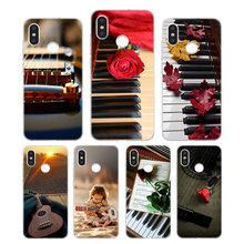 Silicone Phone Case Guitar Piano Music Scenery Printing for Xiaomi Mi 6 8 9 SE A1 5X A2 6X Mix 3 Play F1 Pro 8 Lite Cover k j gaul sonatina for guitar and piano op 8