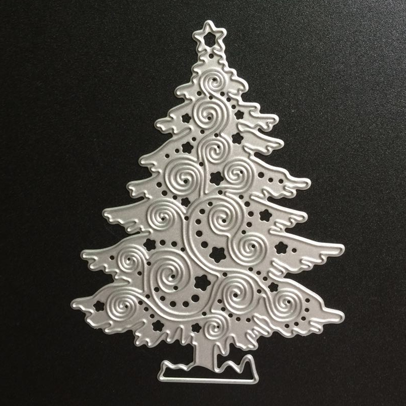 SCD024 <font><b>Christmas</b></font> Tree Metal <font><b>Cutting</b></font> <font><b>Dies</b></font> For Scrapbooking Stencils DIY Cards Album Decoration Embossing Folder <font><b>Die</b></font> Cutter Tools image