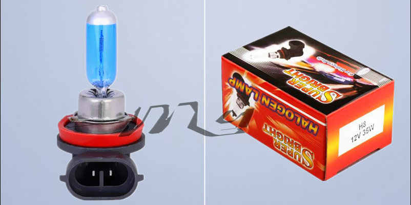 H8 35W Halogen Bulbs super white Headlights fog lamps light running Car Light Source parking 6000K 12V High Power