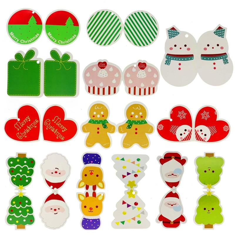 14Pcs/1 Set Lovely Mini Christmas Card Tree Hanging Decoration For Children
