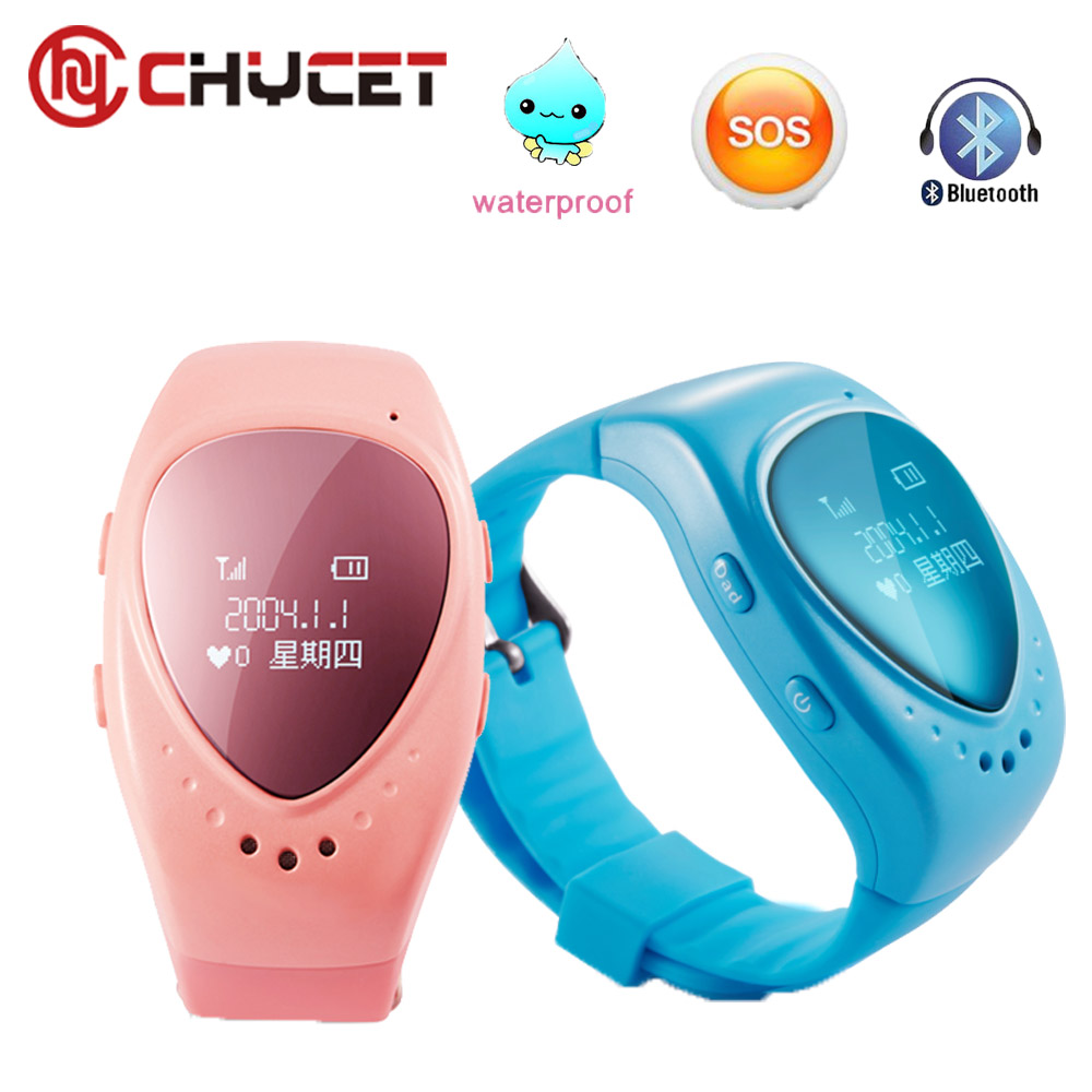 Chycet New A6 GPS Tracker Watch for Kids Children Gift Smart Watch with SOS button GSM phone Anti Lost For Android IOS phone стоимость