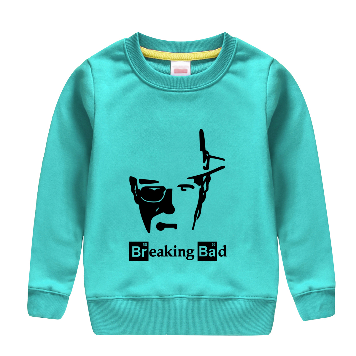 hot sale breaking bad pattern printed 2018 popular winter autumn cotton sweatshirt baby boy hoodie clothing full sleeve outwear