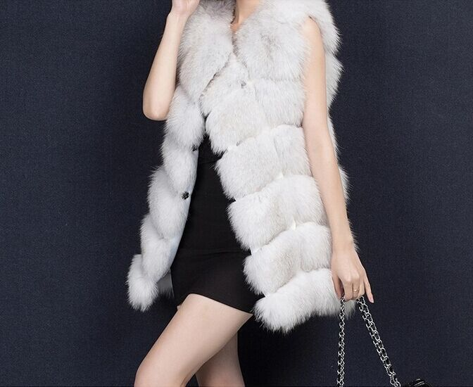 Jackets & Coats Faux Fur Colete De Pele Feminina 2018 Elegant Luxury Women Fox Fur Waistcoat Patchwork Pu Leather Sleeveless Long Fake Fur Gilet X944 Agreeable Sweetness