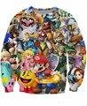 Mulheres homens 3d Super Smash Bros Brawl camisola Super Smash Mario Luigi princesa Peach ligação Samus Aran Kirby Pac - homem Jumper suor