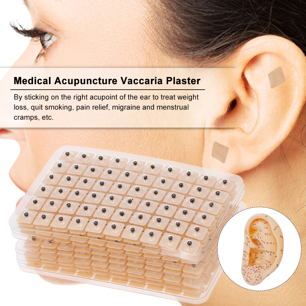 Ears-Stickers Bean Massage Plaster Ear-Press-Seeds Medical-Acupuncture Acupoint 600pcs title=