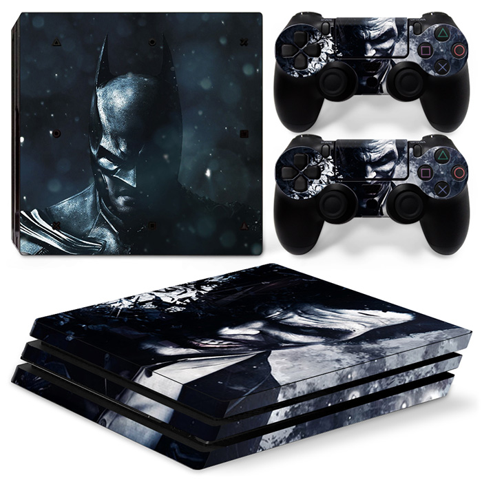 Joker and Bat For PS4 Pro Skin Sticker For Sony Playstation 4 Pro Console and 2Pcs Controller Skins free shipping