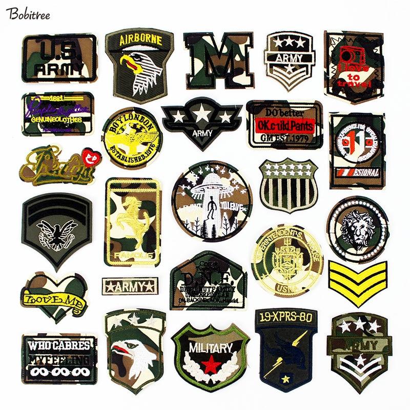 Remendos militares uniformes ferro no exército tático emblemas bordado apliques roupas decoração costura suprimentos