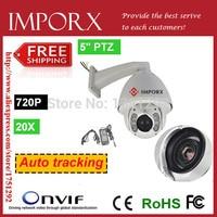 Auto Motion Tracking PTZ IP Caméra Extérieure 1080 P Haute Vitesse Dôme Caméra 20x Zooms CCTV Support de Caméra 32G SD