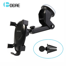 DCAE 360 Rotation Car Phone Holder Qi Wireless Charger For iPhone X 8 Plus Air Vent Car Phone Holder QI Wireless Car Charger