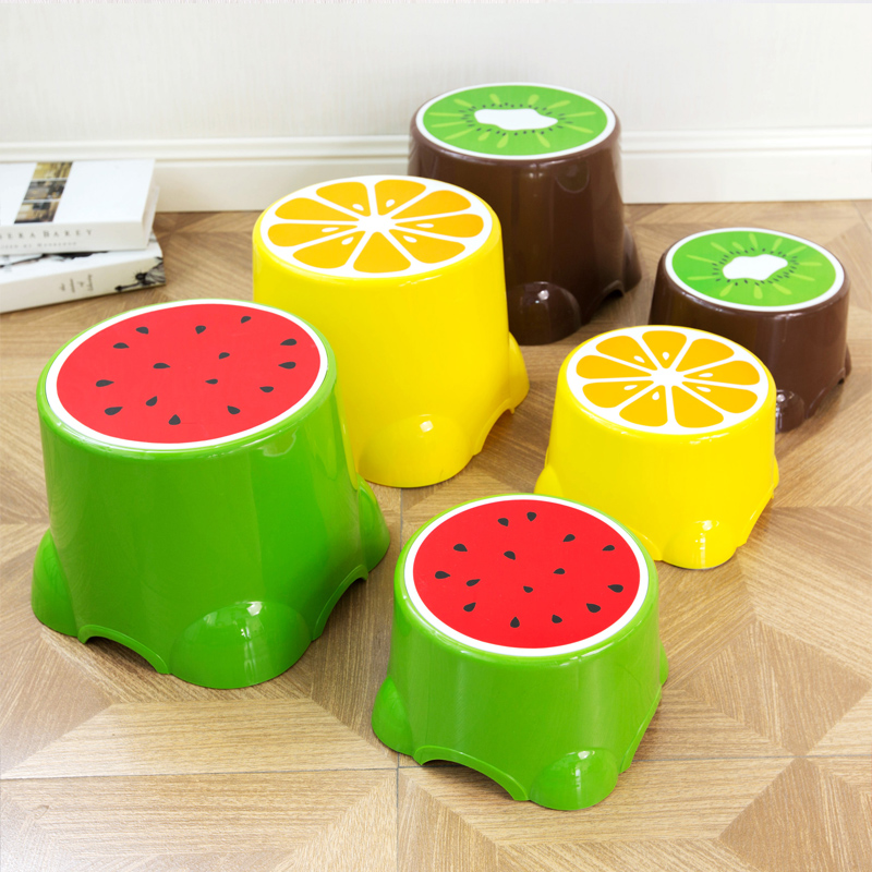 Fruit Stool Child Stool Cute Plastic Stool Round Stool