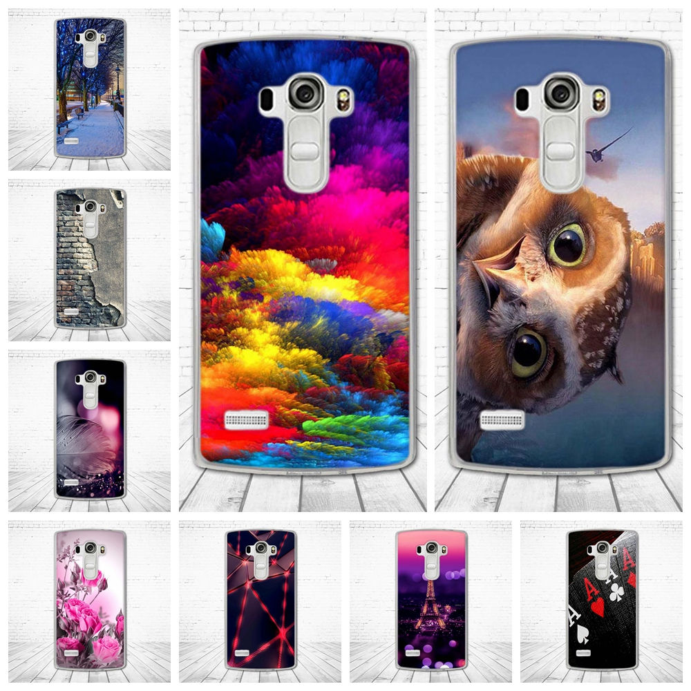 Soft Silicone TPU Back Cover For LG G4 Beat Dual Case 3D Cute Pattern Capa For Coque LG G4S Case For Fundas LG H735 Phone Bags