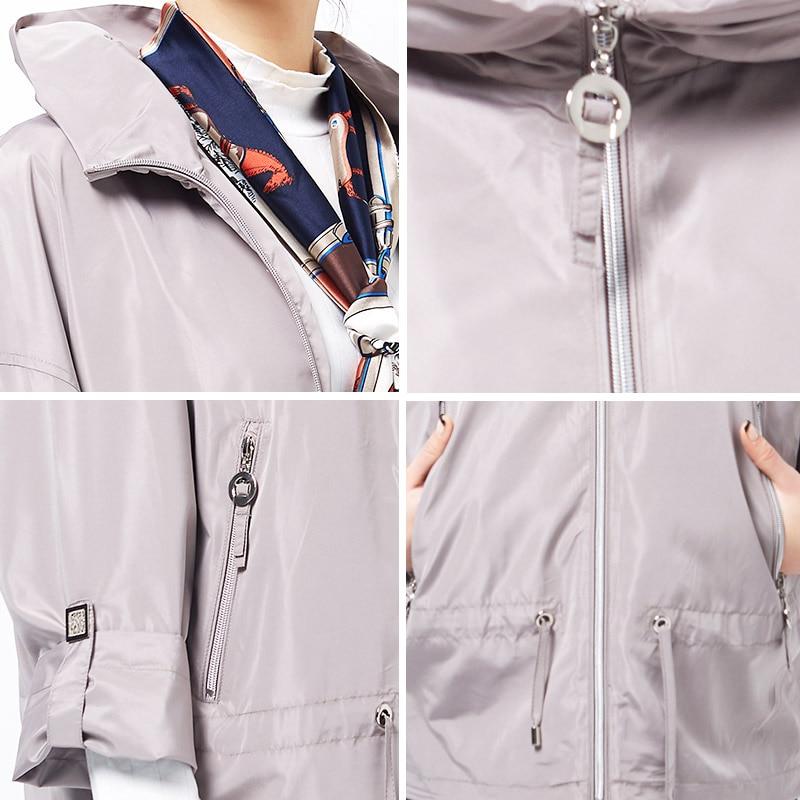 Астрид 2017 пальто нового пальто новой весны плюс пальто шанца размера для женщин пальто большого размера размера женщины Высокомарочная женская ветровка AS-2723