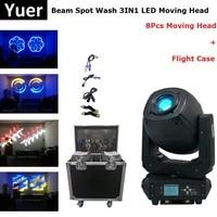 8 шт./лот электронные пятна 3IN1 светодиодный этап лампы высокой мощности 230 Вт светодиодный перемещение головы масштабирующие светильники Те...