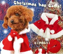 Christmas party clothes gift puppy costume dog Shawl Cloak cat Santa Claus clothes sweater pet Accessories