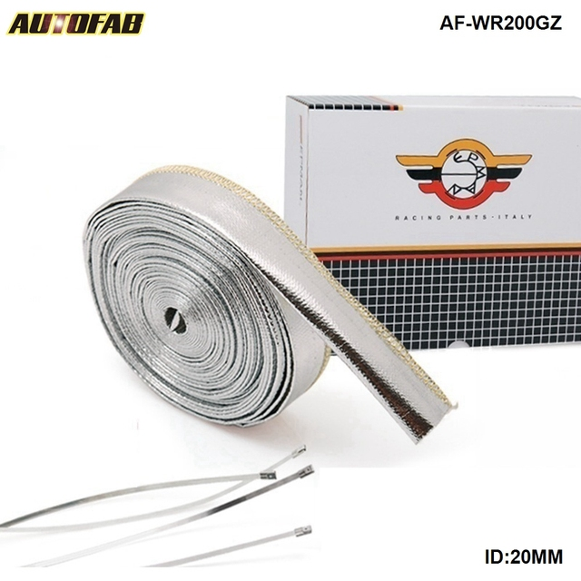 Aluminized Metallic Heat Shield Sleeve Insulated Wire Hose Cover ...