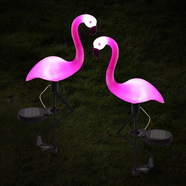LED Solar Flamingo Light 5