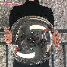 10 stücke 12/18/20/24 inch Leucht Transparent Bobo Blase Ballons Weihnachten Hochzeit Geburtstag Party Dekorationen Helium Ballons