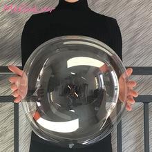 10pcs 12/18/20/24 inch Luminous Transparent Bobo Bubble Ballons Christmas Wedding Birthday Party Decorations Helium Balloons