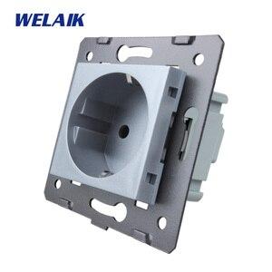 Image 5 - WELAIK EU Standard Power Socket DIY Parts Wall Socket parts Without Glass Panel A8EW/B