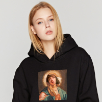 Modis Virgin Mary Mixed Pulp Fiction Winter clothes harajuku hip hop sweatshirt Thick sudadera mujer ulzzang women hoodies