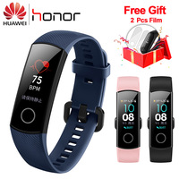 Original Huawei Honor Band 4 Smart Wristband Bracelet Swimmable 5ATM 0.95 OLED Screen Touchpad Heart Rate Monitor Push Message