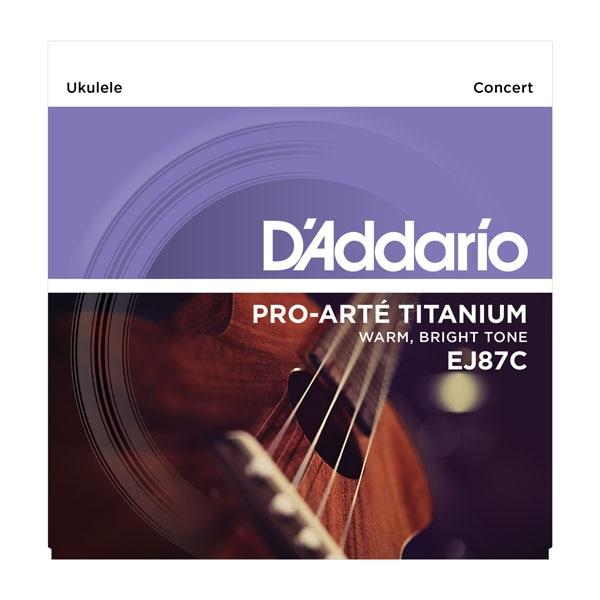 D'Addario Pro-Arte Titanium Ukulele Stringuri EJ87S EJ87T EJ87C Daddario