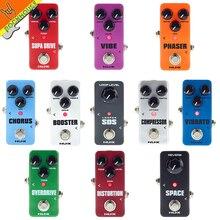 NUX Mini çekirdek gitar efektleri Pedal koro kompresörü Overdrive bozulma güçlendirici Vibe Vibrato döngü Reverb Phaser gitar pedalı