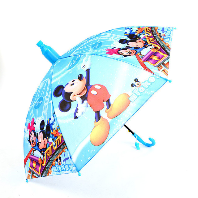 fashion kids cartoon superhuman umbrellas with scalable cover long