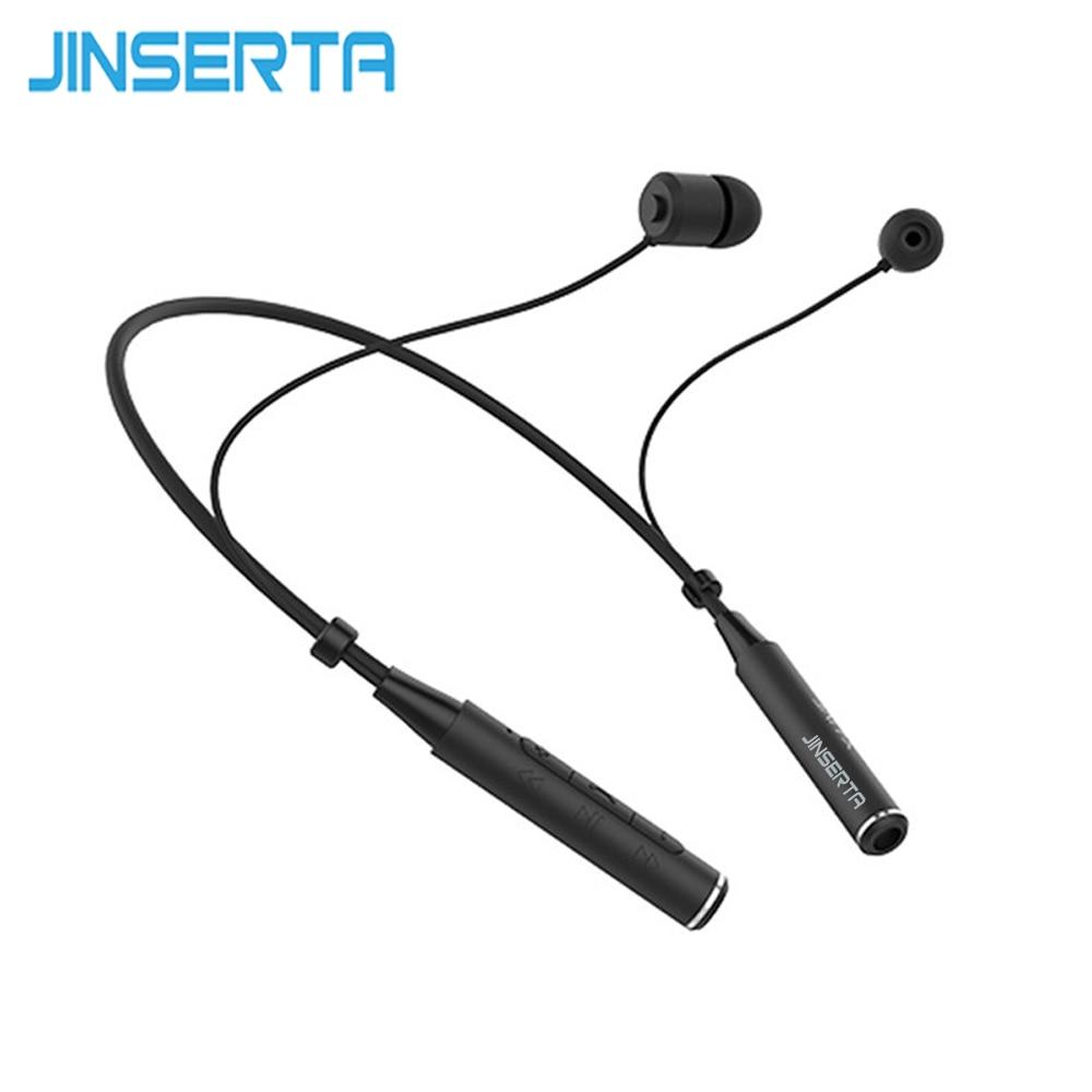 JINSERTA Z6000 Neckband Bluetooth Headset Sport Earphone HIFI Stereo Calls Remind Headphone For Outdoor Running Gym bluetooth earphone headphone for iphone samsung xiaomi fone de ouvido qkz qg8 bluetooth headset sport wireless hifi music stereo