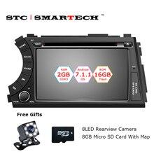 SMARTECH 2 Din Android 7.1.2 OS Voiture Lecteur DVD GPS Navigation pour Ssangyong Kyron Actyon Autoradio Quad Core 2 GB RAM 16 GB ROM