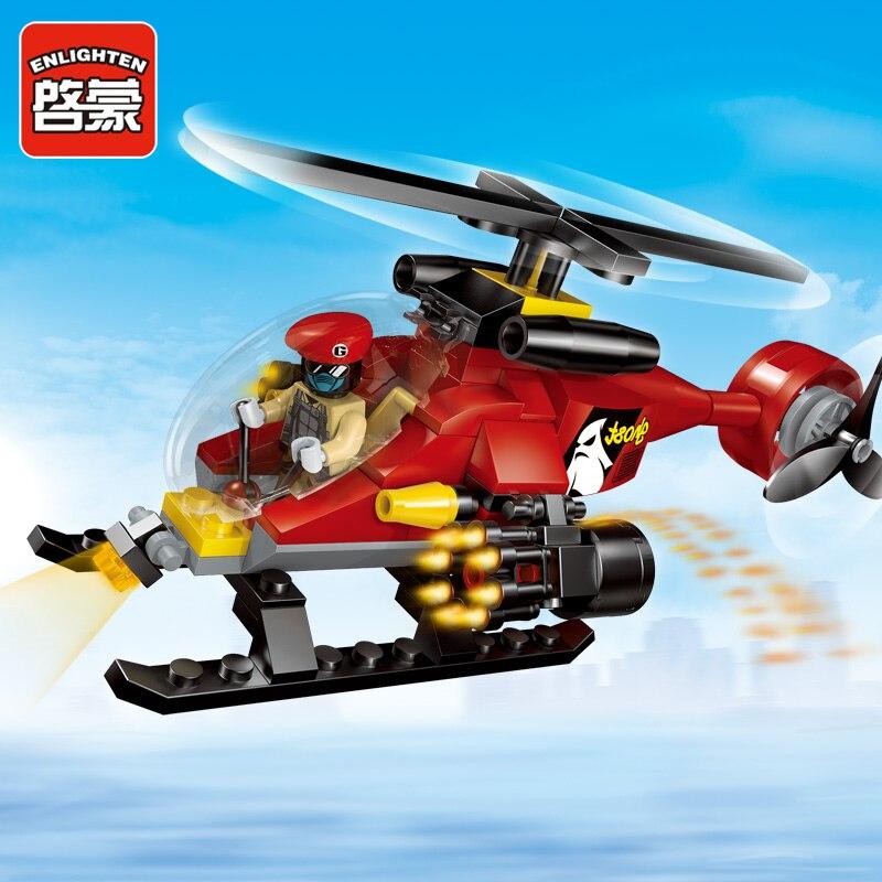 Enlighten City Police Helicopter Chase Swat Super Heroes Avengers Assemble Model -2602